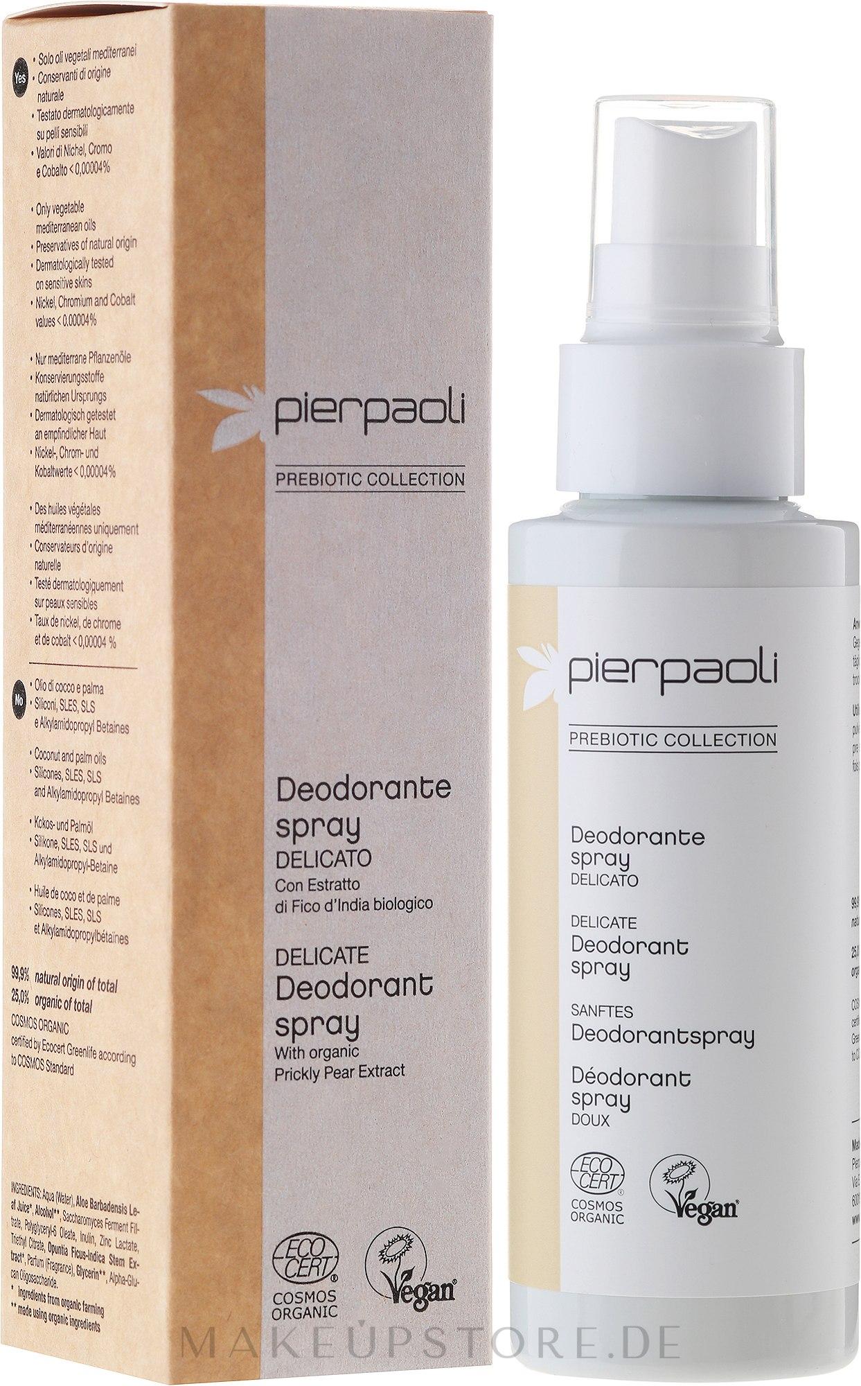 Sanftes Deospray - Pierpaoli Prebiotic Collection Deodorant Spray — Bild 100 ml
