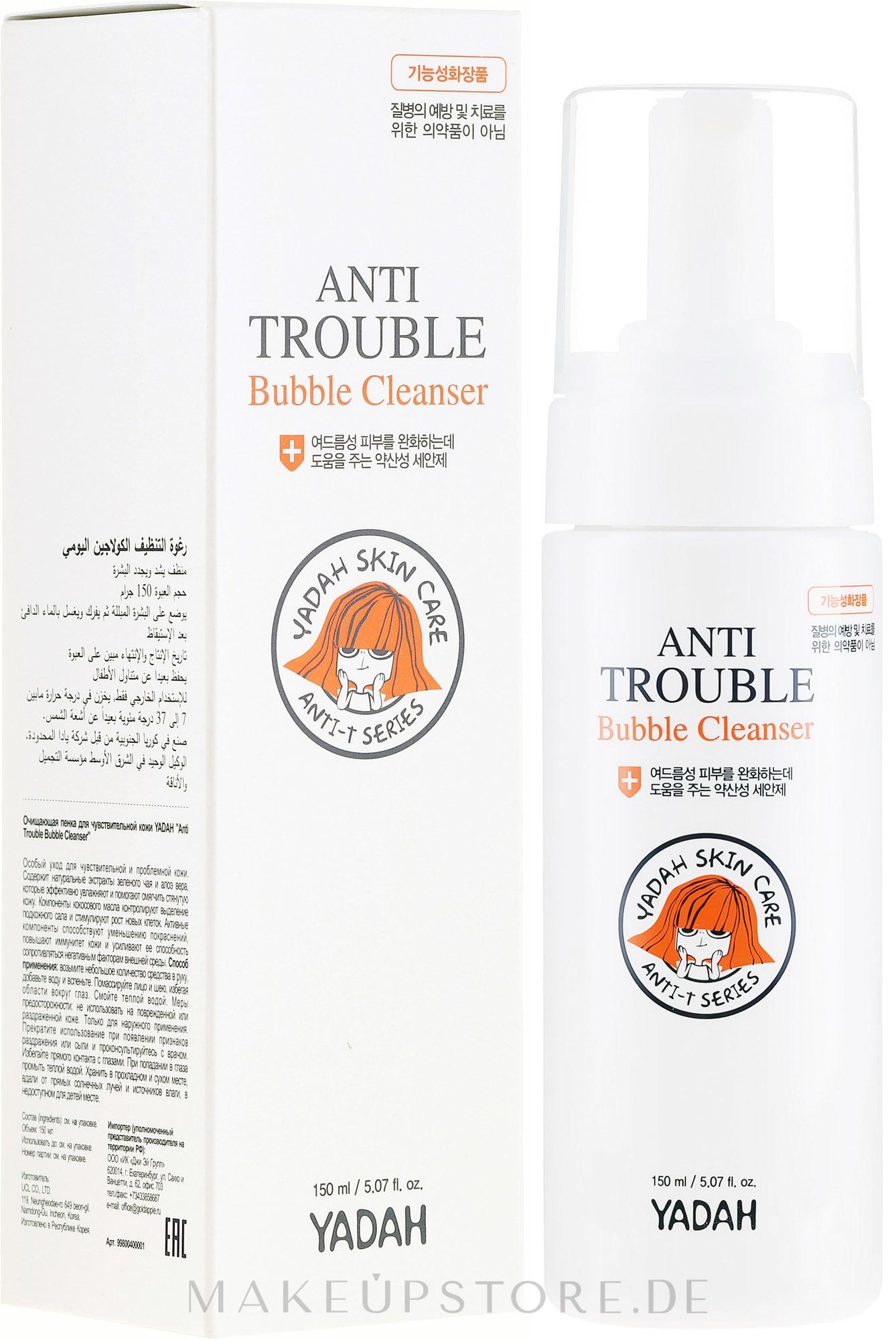 Reinigungsschaum für das Gesicht - Yadah Anti-Trouble Bubble Cleanser — Bild 150 ml