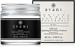 Düfte, Parfümerie und Kosmetik Straffende Anti-Aging Halscreme mit Moringa-Öl und Lecithin - Avant Skincare Full Neck Tightening and Firming Treatment