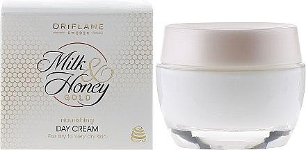 Pflegende Tagescreme mit Milch und Honig für trockene und sehr trockene Haut - Oriflame Milk & Honey Gold Day Cream