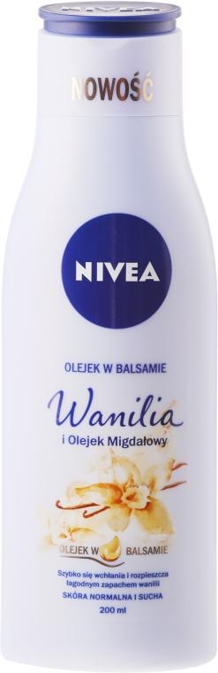 Pflegende Körperlotion mit Vanille & Mandelöl für normale bis trockene Haut - Nivea Balm With Vanilla & Almond Oil — Bild N1