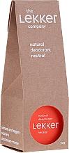 Düfte, Parfümerie und Kosmetik Natürliches Creme-Deodorant ohne Duft - The Lekker Company Natural Deodorant Neutral