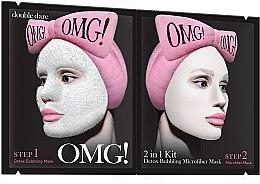 Düfte, Parfümerie und Kosmetik Gesichtsreinigungsmaske in 2 Schritten mit Detox-Effekt - Double Dare OMG! 2in1 Kit Detox Bubbling Microfiber Mask