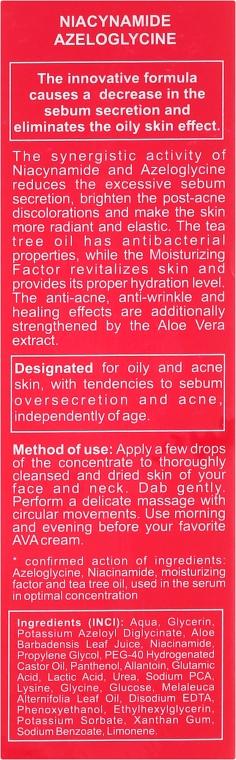 Talgregulierendes Gesichtsserum mit Niacinamid und Azeloglycin - Ava Laboratorium Quintessence Of Beauty Stop Sebum Serum — Bild N3