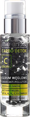 Gesichtsserum mit Aktivkohle für fettige und Mischhaut - Bielenda Carbo Detox Serum — Bild N1
