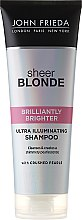 Düfte, Parfümerie und Kosmetik Shampoo zum Beleben von blonder Haarfarbe mit perlmutternem Glanz - John Frieda Sheer Blonde Brilliantly Brighter Shampoo