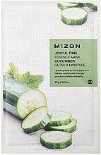 Düfte, Parfümerie und Kosmetik Feuchtigkeitsspendende Tuchmaske für das Gesicht mit Gurken - Mizon Joyful Time Essence Mask Cucumber